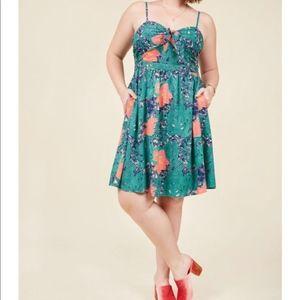 ModCloth   Tropical Floral Dress 1X